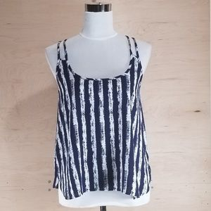 YMI Blue and White Tank Top Size Small